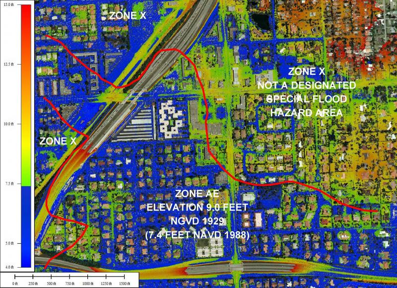Florida Floodzone Services MiamiDade County New Flood Maps - Florida flood plain map